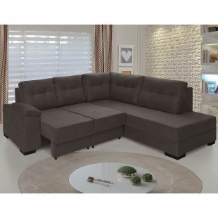 sofá holanda suede vegetalle café ambiente