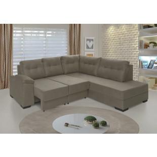 sofá holanda suede vegetale castor ambiente