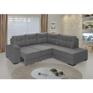sofá holanda suede vegetalle cinza ambiente