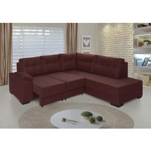 sofá holanda suede vegetalle vinho ambiente